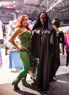 Poison Ivy and Darth Maul - ComicCon Gamex 2015