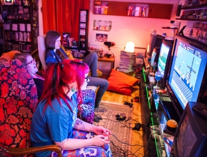 Geeky Gals Gathering gaming time