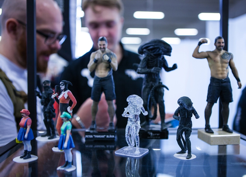 3D printed models at Sci-Fi World