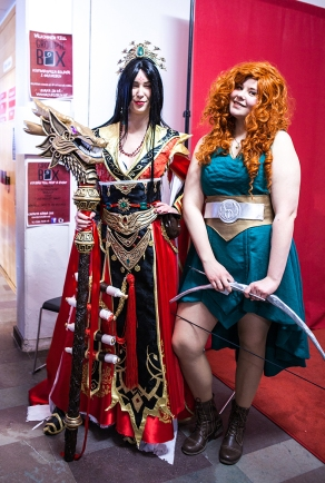 Brave and Li Ming cosplayer at Sci-Fi World