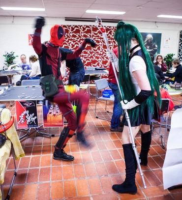 Deadpool cosplay at Sci-Fi World