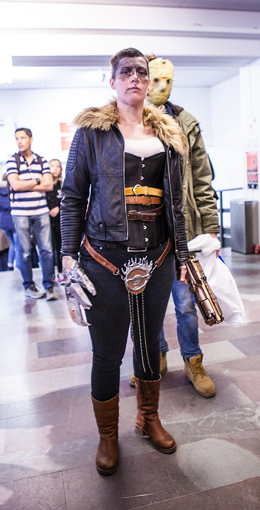 Furiosa cosplay at Sci-Fi World