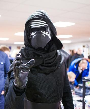 Kylo Ren cosplay at Sci-Fi World