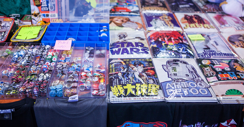 Merch from star wars at Sci-Fi World