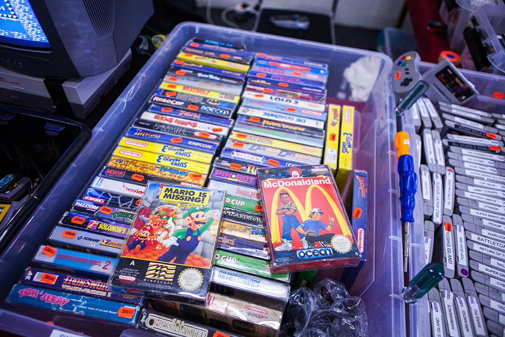 Nintendo NES games at Sci-Fi World