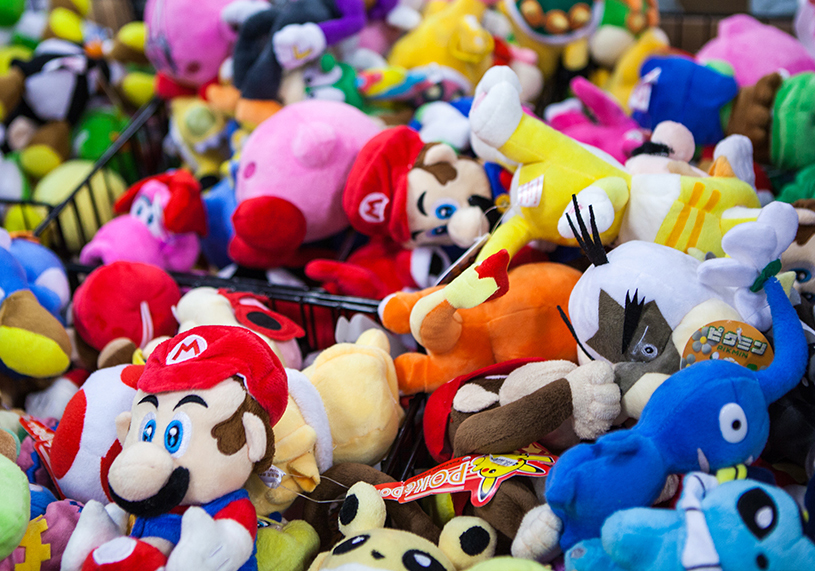 Nintendo plushies at Sci-Fi World