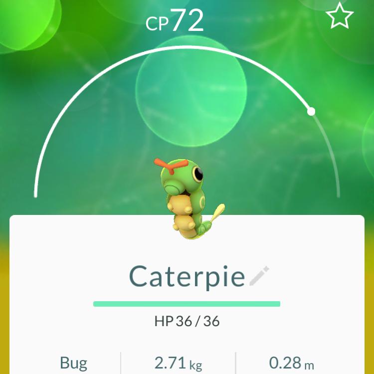 Caterpie Pokémon Gals Geeky Go –