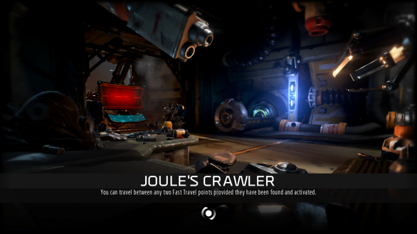 Joule's Crawler loading screen - ReCore