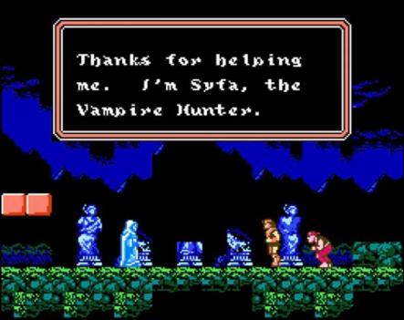 Castlevania Dracula's Curse Saving Syfa