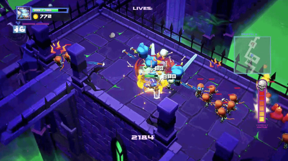 Super Dungeon Bros action