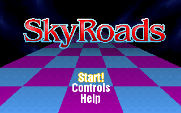 DOS game SkyRoads