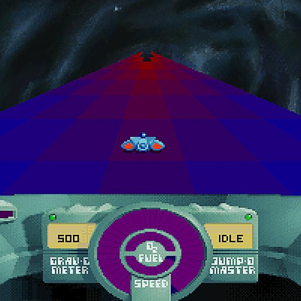 SkyRoads DOS game