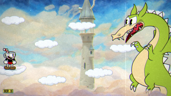 Cuphead VS dragon