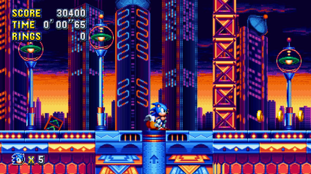 Sonic Mania Casino like zone