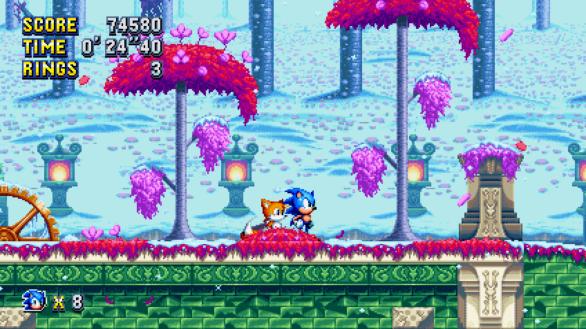 Sonic Mania pretty pixels