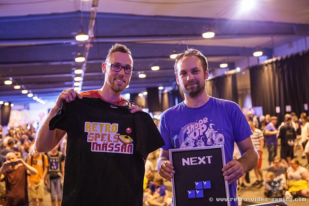 Runner up Dave and Tetris champion Morten