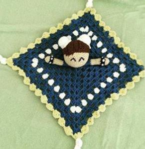 Chun-Li Amigurumi comfort blanket
