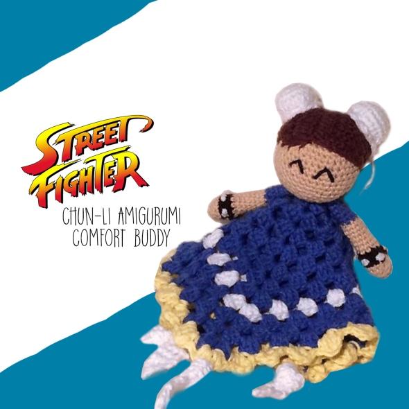 Street Fighter Chun-Li Amigurumi Comfort Buddy